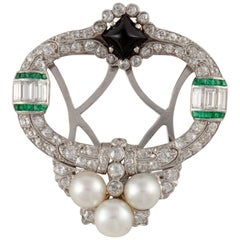 Platinum Art Deco Diamond Brooch
