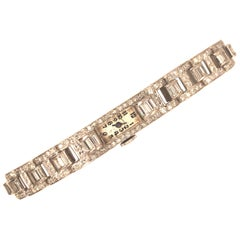 Platinum Art Deco Diamond Watch