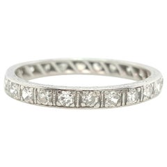 Platinum Art Deco Round Diamond Eternity Band, circa 1920s
