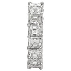 Platinum Asscher Cut Wedding Band