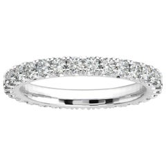 Platinum Audrey French Pave Eternity Ring '1 Ct. tw'