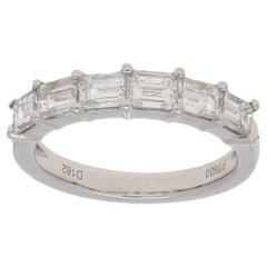 Baguette Cut Diamond Half Eternity Ring in Platinum 1.62ct