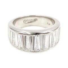 Platinum Baguette Wide Band Ring