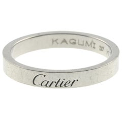 Platinum Band Ring by Cartier