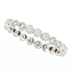 Platinum Bezel Set Diamond Eternity Band Ring