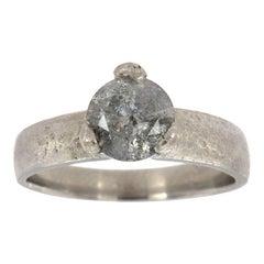 Platinum Bliss Salt and Pepper Diamond Ring 'Center, 0.95 Carat'