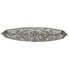 Platinum Brooch