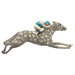 "Platinum Brooch, ""Jockey"" Plisson & Harz, Paris, 1920"