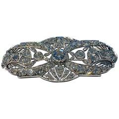 Platinum Brooch with Diamonds