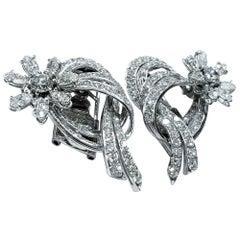 Platinum Certified 8.75 Carat Diamond Earrings