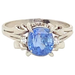 Platinum Ceylon Sapphire Ring
