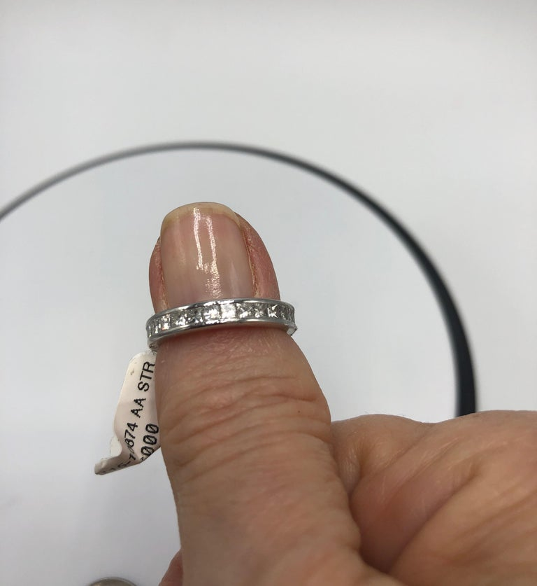Platinum Eternity Band With .75CT Diamonds.  Current Size 5.