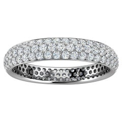 Platinum Christa Three Row Eternity Diamond Ring '4/5 Ct. Tw'