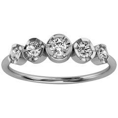 Platinum Cielo Petite Organic Design Diamond Ring '1/4 Ct. Tw'