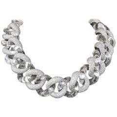 Platinum Crystal Diamond Necklace