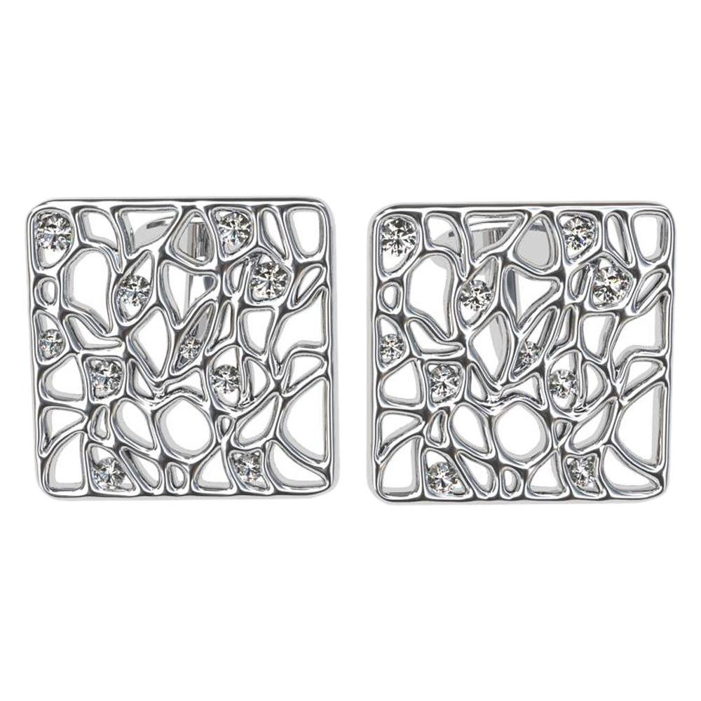 Platinum Cufflinks with GIA Diamonds