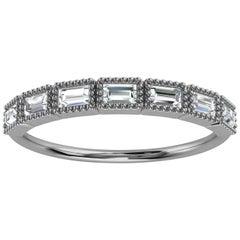 Platinum Delicate Baguette Milgrain Organic Design Diamond Ring '1/3 Ct. Tw'