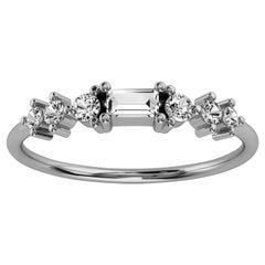 Platinum Delicate Solis Organic Design Diamond Ring '1/4 Ct. tw'