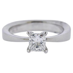 Platinum Diamond 0.88 Carat Engagement Ring
