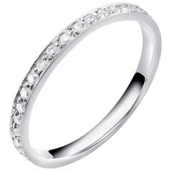 Platinum Diamond 2 Millimeter Pave Set Eternity Band Finger Size 5.5