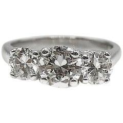 Platinum Diamond 3-Stone Engagement Ring