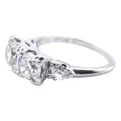 Platinum Diamond Antique Fashion Ring