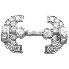 Platinum Diamond Art Deco style Hairclip