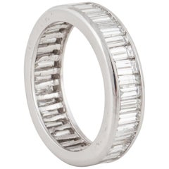 Platinum Diamond Baguette Eternity Band