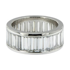 Platinum Diamond Baguette Eternity Band of the Finest Quality
