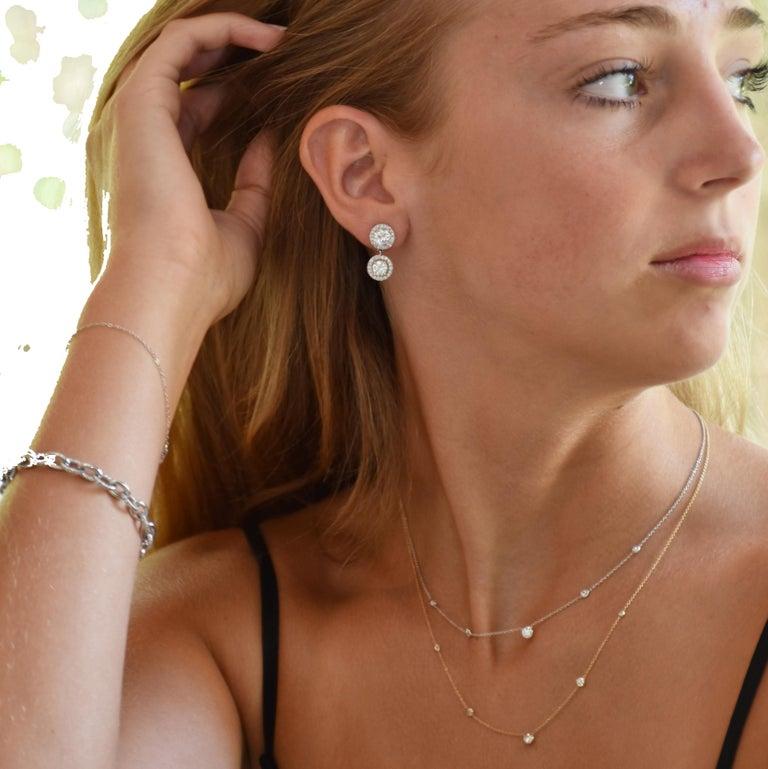 Platinum Diamond Link Bracelet Weighing 12.55 Carat   For Sale 1