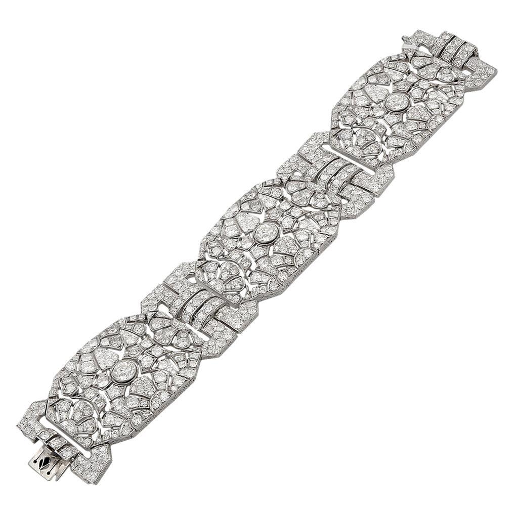 Platinum Diamond Bracelet 45 Carat
