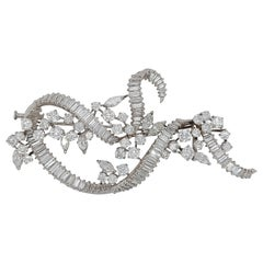 Platinum Diamond Brooch / Pendant over 21 Carat Diamonds