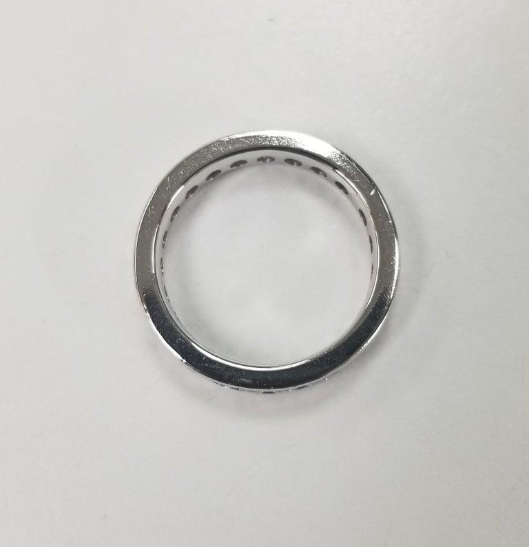 Round Cut Platinum Diamond Channel Set Eternity Ring For Sale
