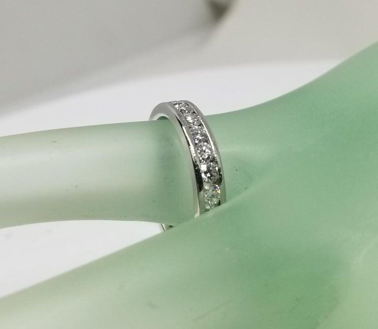 Platinum Diamond Channel Set Eternity Ring For Sale 1