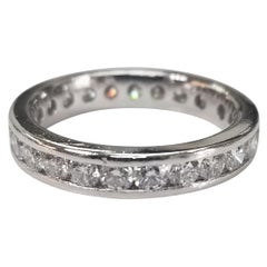 Platinum Diamond Channel Set Eternity Ring