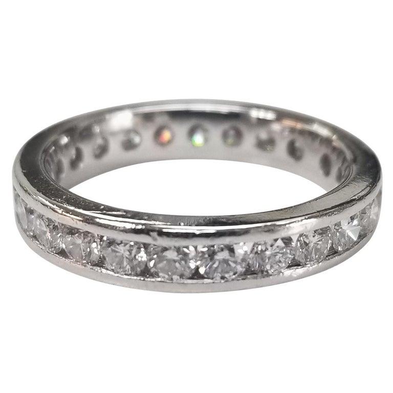 Platinum Diamond Channel Set Eternity Ring For Sale
