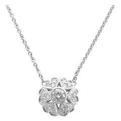 Platinum Diamond Cluster Heart Pendant