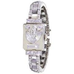 Platinum Diamond Cocktail Dinner Vase Watch 4.75 Carat