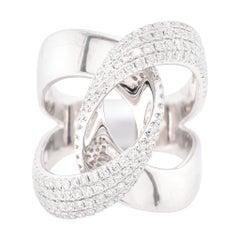 Platinum Diamond Connect Ring