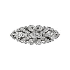 Platinum Diamond Double Clip, circa 1940