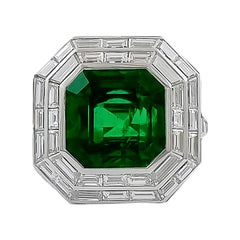 11 Carat Emerald Diamond Ring