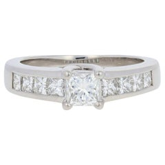 Platinum Diamond Engagement Ring, Princess Cut 1.25 Carat