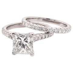 Platinum Diamond Engagement Wedding Set