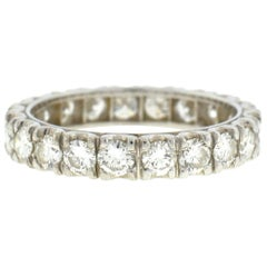 Platinum Diamond Eternity Band Ring 2.2 Carat