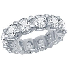 Platinum Diamond Eternity Ring 8.50 Carats
