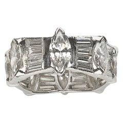 Platinum Diamond Eternity Ring, 8.00 Carat