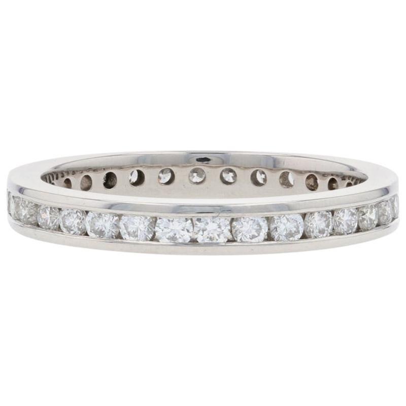 Platinum Diamond Eternity Wedding Band Round Brilliant 2/3 Carat Ring