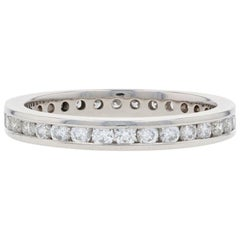 Platinum Diamond Eternity Wedding Band Round Brilliant 2/3 Carat Ring