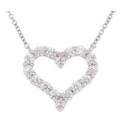 Platinum Diamond Heart Tiffany & Co. White 0.54 Carat