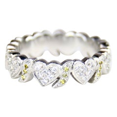 Platinum Diamond Hearts Eternity Band